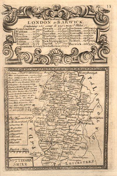 Associate Product 'Nottingham-Shire'. County map by J. OWEN & E. BOWEN. Nottinghamshire 1753