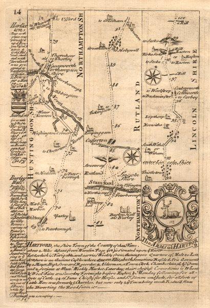 Associate Product Stilton-Stamford-Great Casterton-Colsterworth road map by OWEN & BOWEN 1753