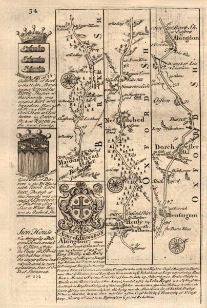 Associate Product Maidenhead-Henley on Thames-Dorchester-Abingdon OWEN/BOWEN road map 1753