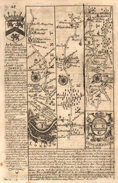 Associate Product London-Southwark-New Cross-Eltham-Addington-Ditton OWEN/BOWEN road map 1753