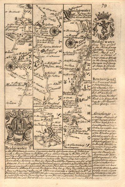Associate Product Maiden Bradley-Bruton-Alford-East Lydford-Bridgwater OWEN/BOWEN road map 1753