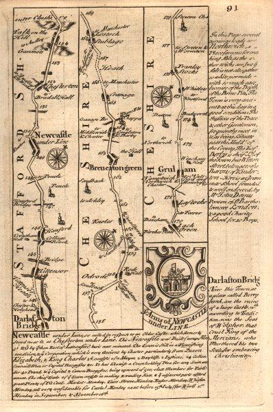Associate Product Barlaston-Newcastle under Lyme-Chesterton-Brereton Grn OWEN/BOWEN road map 1753