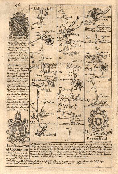 Associate Product Guildford-Godalming-Chiddingfold-Midhurst-Chichester OWEN/BOWEN road map 1753