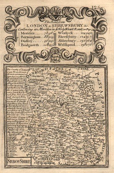 Associate Product 'Shrop-Shire'. County map by J. OWEN & E. BOWEN. Shropshire 1753 old