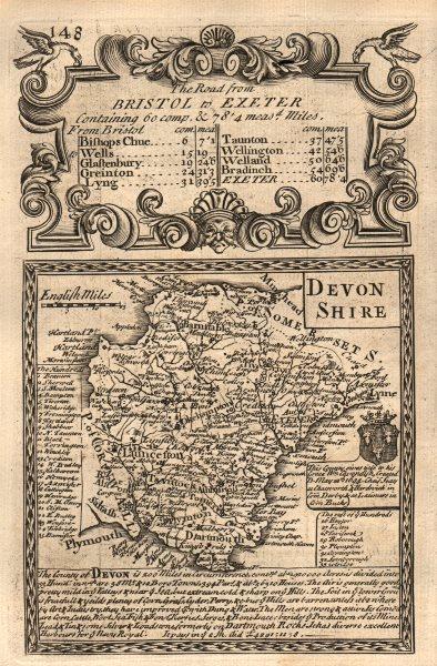 Associate Product 'Devon-Shire'. County map by J. OWEN & E. BOWEN. Devonshire 1753 old