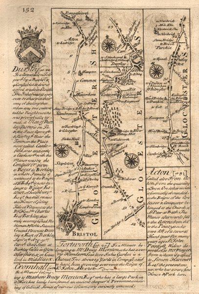 Associate Product Bristol-Winterbourne-Rangeworthy-Dursley-Whitminster OWEN/BOWEN road map 1753