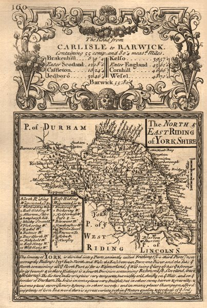 Associate Product 'North & East Riding of York-Shire'. County map by OWEN & BOWEN. Yorkshire 1753