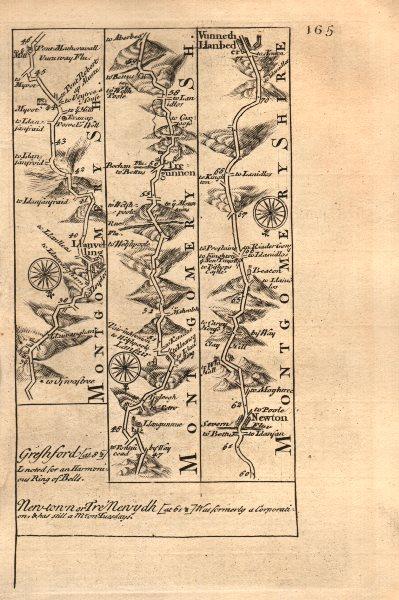 Associate Product Llanvelling-Llanfair-Tregynon-Newtown-Llanbadarn Fynydd OWEN/BOWEN road map 1753