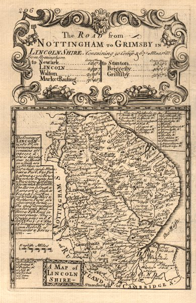 Associate Product 'A Map of Lincoln Shire'. County map by J. OWEN & E. BOWEN. Lincolnshire 1753