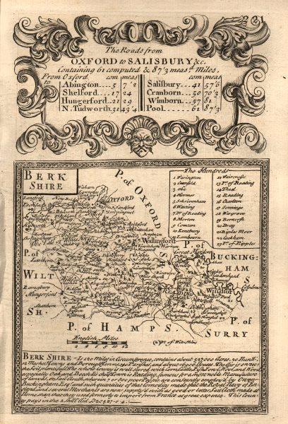 Associate Product 'Berk Shire'. County map by J. OWEN & E. BOWEN. Berkshire 1753 old antique