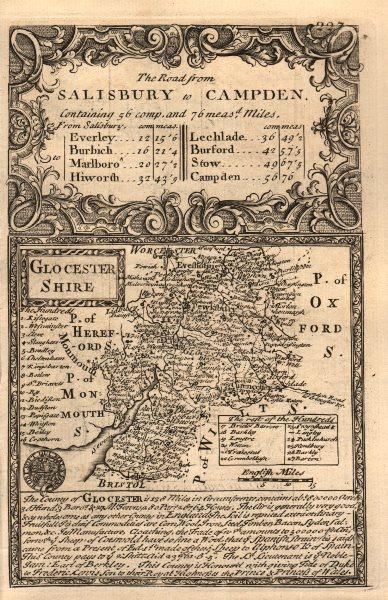 Associate Product 'Glocester Shire'. County map by J. OWEN & E. BOWEN. Gloucestershire 1753