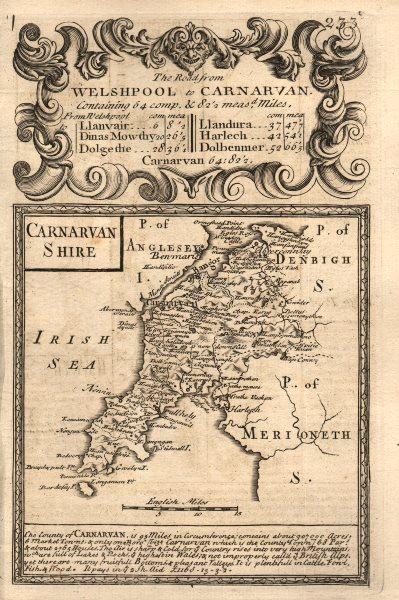 Associate Product 'Carnarvan Shire'. County map by J. OWEN & E. BOWEN. Carnarvanshire 1753