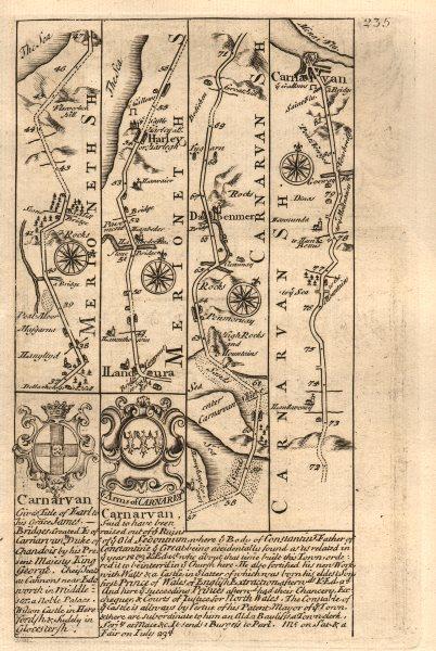 Associate Product Llanddwywe-Harlech-Porthmadog-Dolbenmaen-Caernarfon OWEN/BOWEN road map 1753