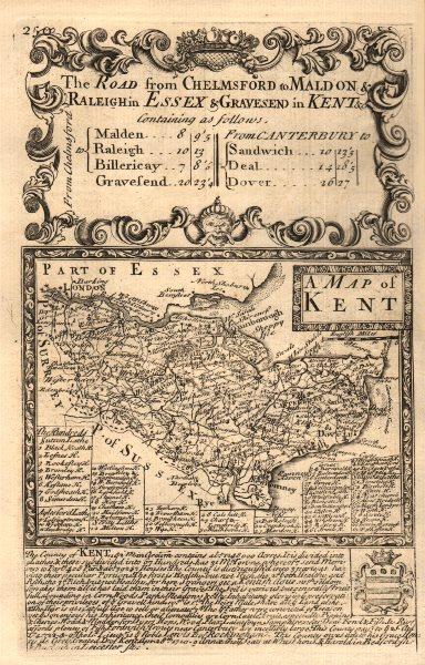 Associate Product 'A Map of Kent'. County map by J. OWEN & E. BOWEN 1753 old antique chart