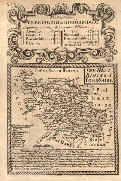 Associate Product 'The West Riding of York-Shire'. County map by OWEN & BOWEN. Yorkshire 1753