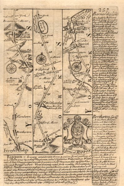 Associate Product Knottingley-Brotherton-Aberford-Wetherby-Boroughbridge-Ripon OWEN/BOWEN map 1753