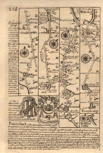 Associate Product Leeming-Richmond-Barnard Castle. Ferrybridge-Wakefield OWEN/BOWEN road map 1753