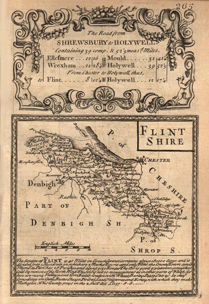 Associate Product 'Flint Shire'. County map by J. OWEN & E. BOWEN. Flintshire 1753 old