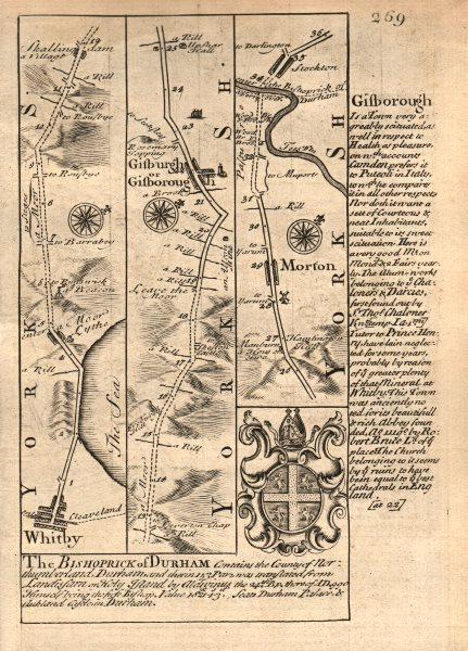 Associate Product Whitby-Guisborough-Marton in Cleveland-Stockton on Tees OWEN/BOWEN road map 1753