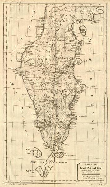 Associate Product 'Carte du Kamtchatka'. Kamchatka, Russia. BELLIN 1758 old antique map chart