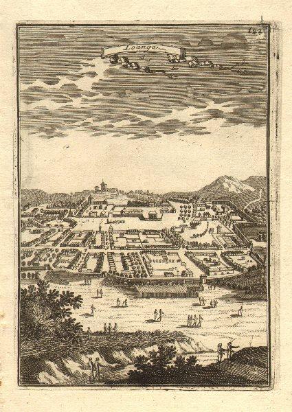 Associate Product CONGO. Capital of Kingdom of 'Loanga' (M'banza-Loango or Buali). MALLET 1683