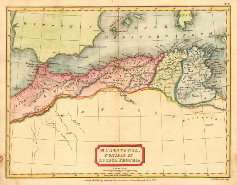 Associate Product 'Mauritania, Numidia, et Africa Propria'. HALL. North Africa Maghreb 1826 map