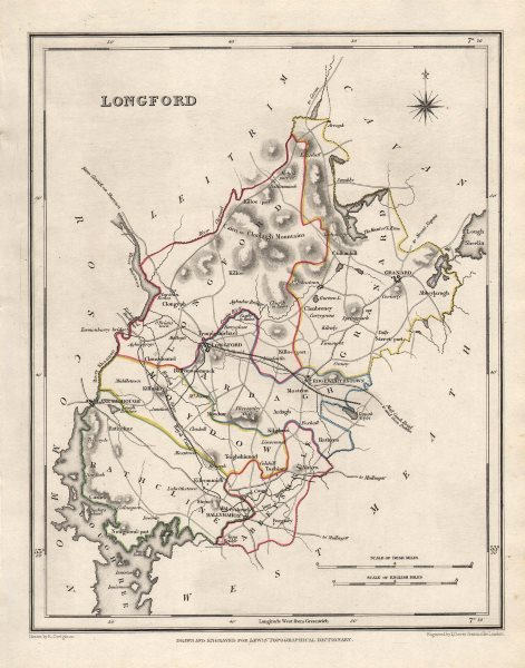 Map Of Ireland Longford.Details About County Longford Antique Map For Lewis By Creighton Dower Ireland 1846