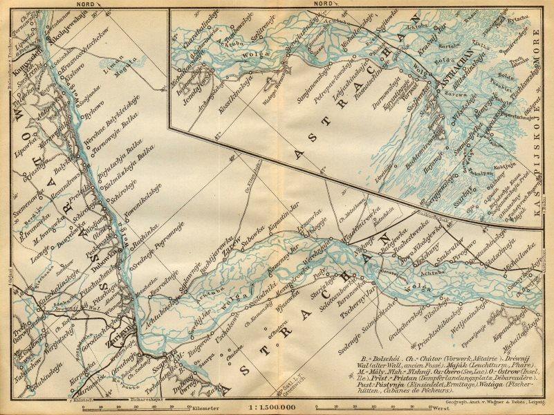 Associate Product Volga River [Astrakhan - Volgograd - Kamyshin]. Russia. BAEDEKER 1912 old map