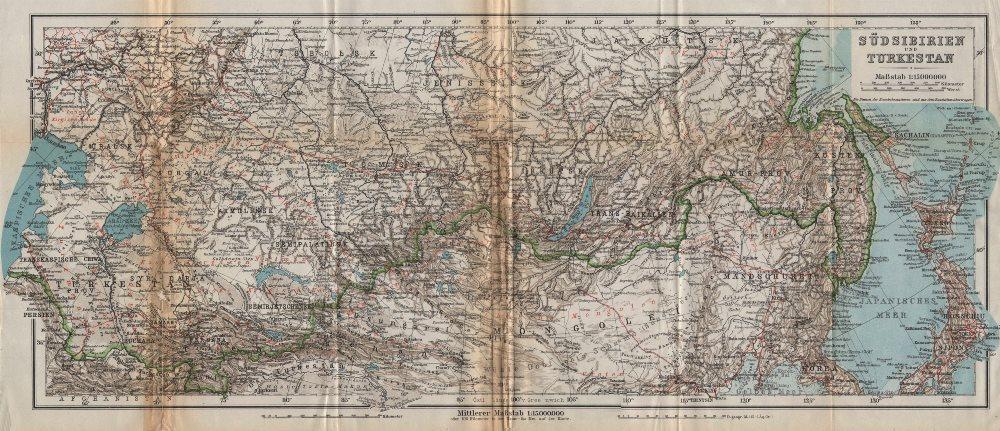 Associate Product South Siberia & Turkestan. Central East Asia. Mongolia China. BAEDEKER 1912 map