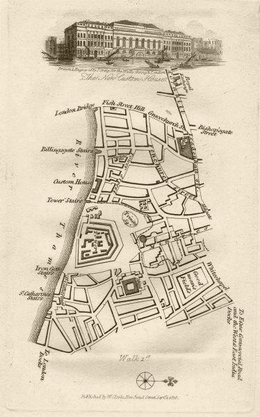 Associate Product City of London Tower Leadenhall Fenchurch St Cornhill Custom House EC3 1817 map