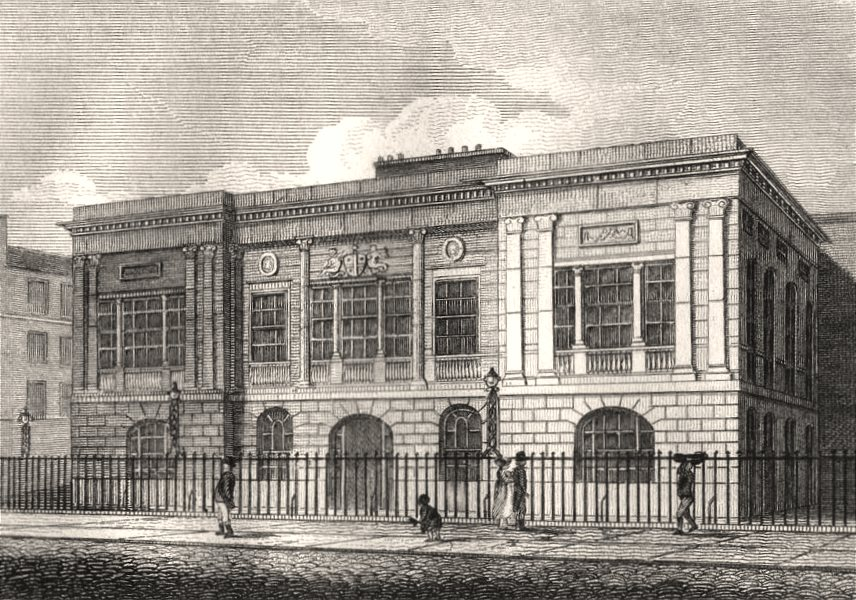 Associate Product The Trinity House, London. Antique engraved print 1817 old