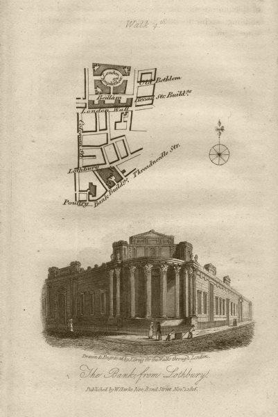 Associate Product City of London Wall Bank Threadneedle St Finsbury Circus Bedlam EC2R/M 1817 map