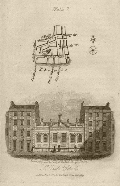 Associate Product City of London Thames Street St Paul's Churchyard & School EC4M EC4V 1817 map
