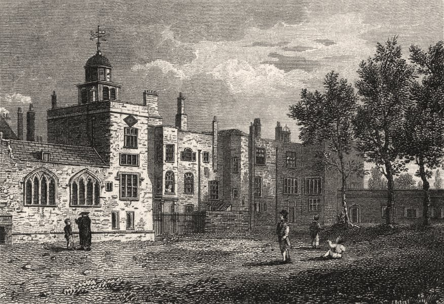 Associate Product The Chapel of the Charter House, London. Antique engraved print 1817 old