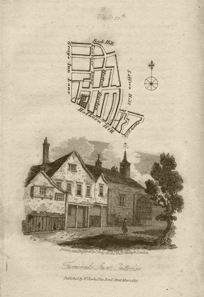 Associate Product Hatton Garden Holborn Gray's Inn Road Leather Lane Furnival's Inn EC1N 1817 map