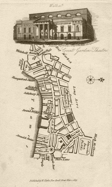 Associate Product Covent Garden Strand Lincoln's Inn Fields St Martin's Lane Opera House 1817 map