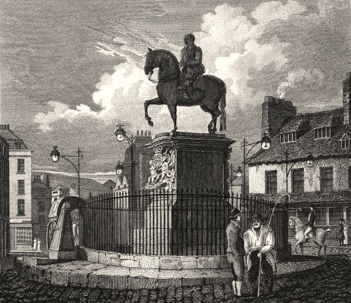 Associate Product Charing Cross, London. Antique engraved print 1817 old picture