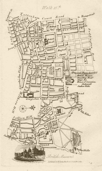 Associate Product Bloomsbury Clerkenwell Farringdon Seven Dials Russell Square Gray's Inn 1817 map