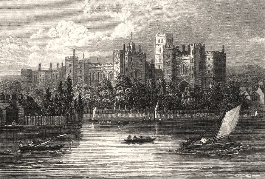 Associate Product Lambeth Palace, London. Antique engraved print 1817 old picture