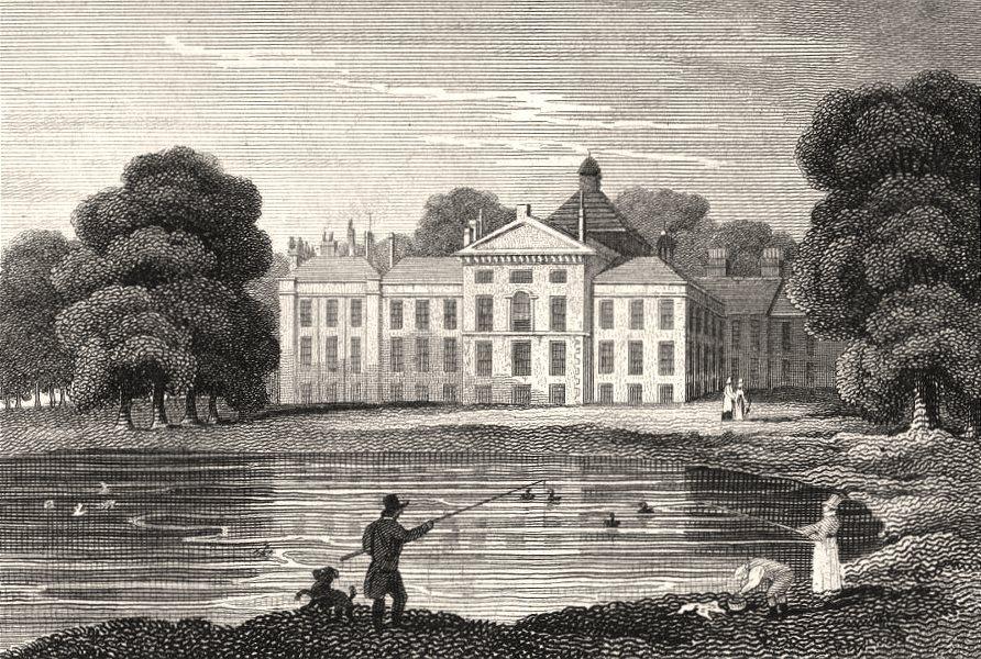 Associate Product Kensington Palace, London. Antique engraved print 1817 old