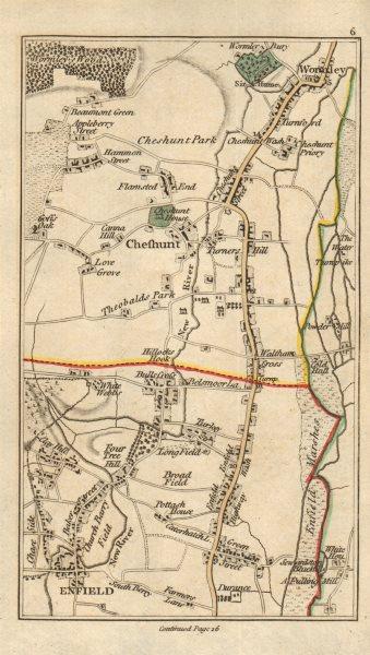 Associate Product ENFIELD Cheshunt Waltham Cross Waltham Abbey Wormley Goff's Oak CARY 1786 map