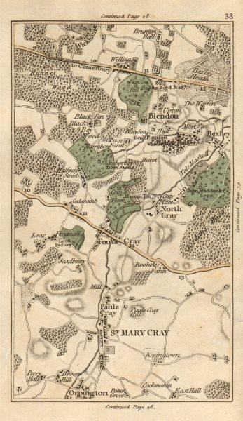 Associate Product ORPINGTON North Foots St Mary St Paul's Cray Chislehurst Bexley heath 1786 map