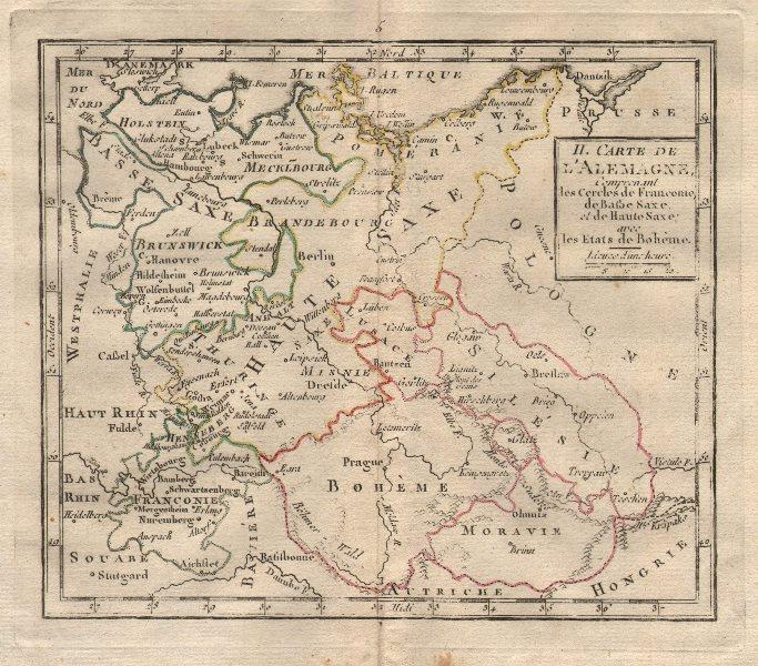 """""""II. Carte d'Alemagne"""" by BRION DE LA TOUR. Germany Poland Czechia 1777 map"""
