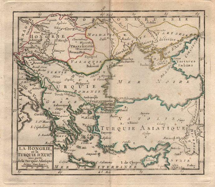 """Associate Product """"La Hongrie et la Turquie…"""" by BRION DE LA TOUR. Ottoman Empire Hungary 1777 map"""