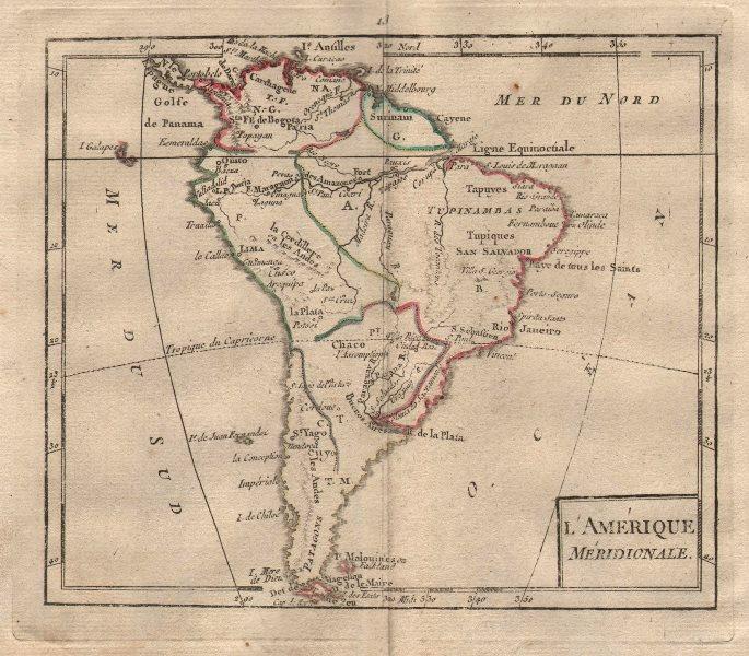 """""""L'Amérique Méridionale"""" by BRION DE LA TOUR. South America 1777 old map"""