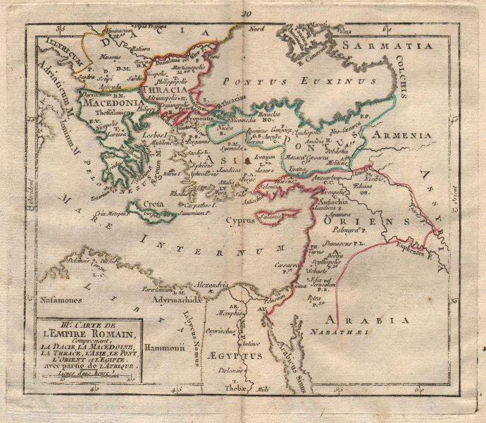"""Associate Product """"IIIe Carte de l'Empire Romain"""". BRION DE LA TOUR. Roman Greece Turkey 1777 map"""