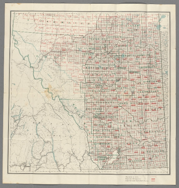 Associate Product Alberta, Canada southern sheet. Electoral. Department of Public Works 1913 map