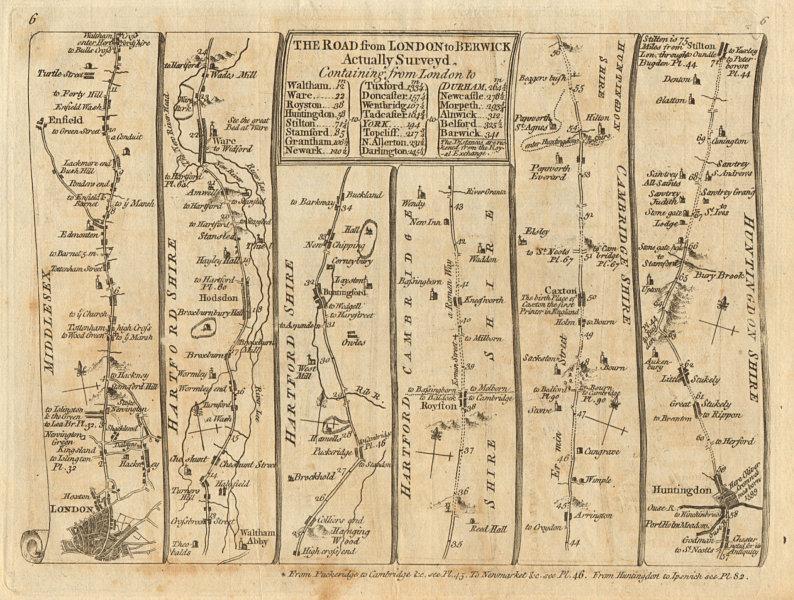 Associate Product London Tottenham Enfield Waltham Hoddesdon Huntingdon. KITCHIN road map 1767