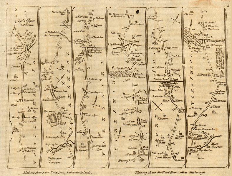 Associate Product Doncaster Ferrybridge Tadcaster York Boroughbridge. KITCHIN road map 1767