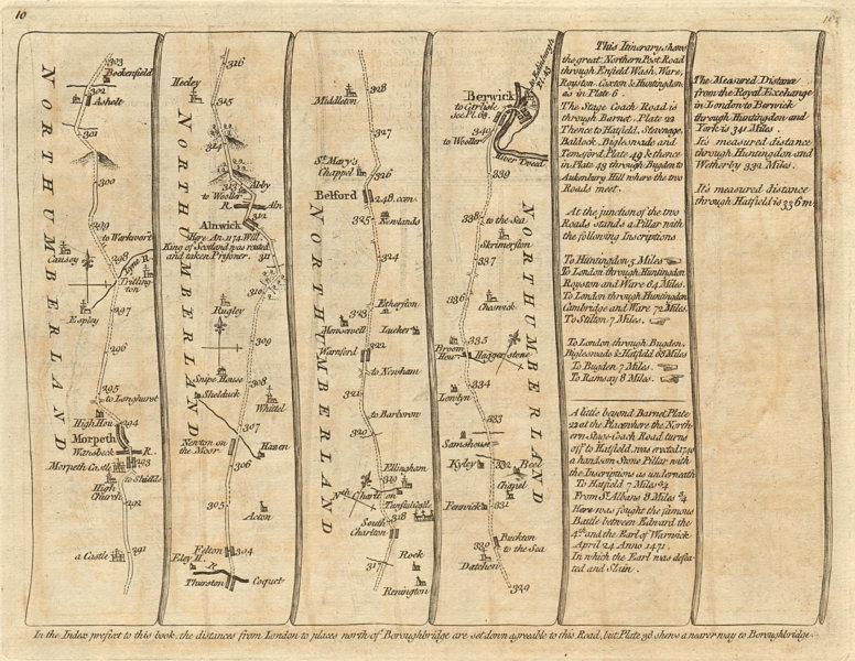 Associate Product Morpeth Newton/Moor Alnwick Belford Berwick-upon-Tweed. KITCHIN road map 1767